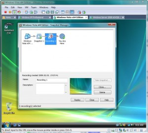 Workstation 6.5 Snapshot Manager