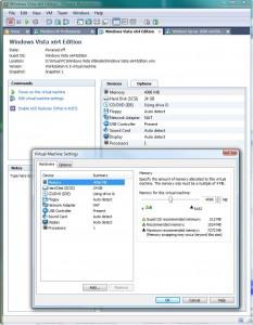 Workstation 6.5 beállítások